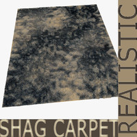 3d model of shag carpet