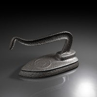 3d old antique iron model