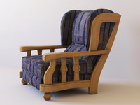 3ds armchair upholstery
