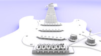 3d model electric guitare