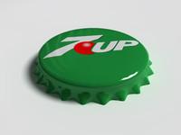 7up bottle tin cap 3d model