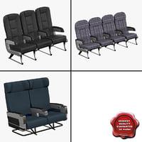 3dsmax aircraft passenger seats