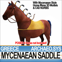 3d ancient greece mycenaean horse saddle