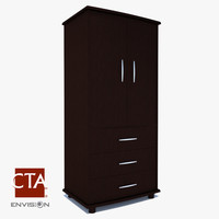 armoire wood 3d obj