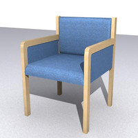 chair library office 3d model