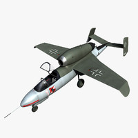3d model heinkel 162 volksjäger fighter