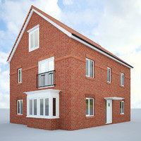 3d model english house