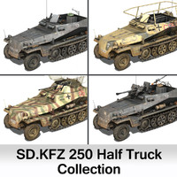 3d german 250 half track
