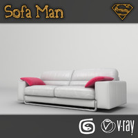 new york sofa 3d model