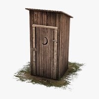 rustic outhouse house 3ds