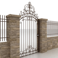 Metal gate and fence 2