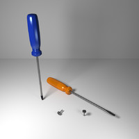 ted screwdriver screw 3d model