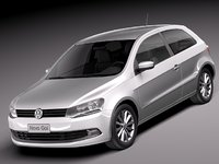3d volkswagen gol 2013 car model