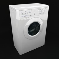 3d model of wash machine indesit