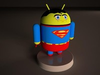 3d model android superman