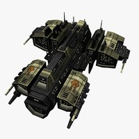 upgraded ship battleship destroyers 3d 3ds