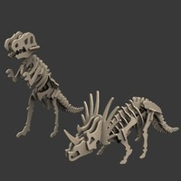 toy dinosaur puzzles 3d max