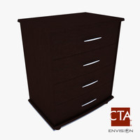 3d model chest stand wood