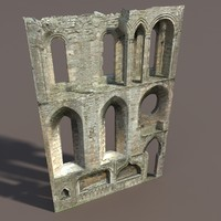 castle ruin modelled 3d model