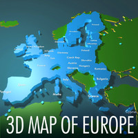 European Union 3d map