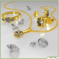 3d jewels diamonds
