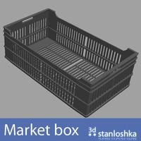 market crate 3d obj