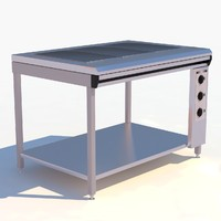 3d restaurant electric induction range