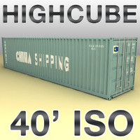 ISO shipping container 40 feet highcube