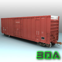 Railroad boxcar A405 CNA red