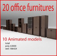 3d office furnitures
