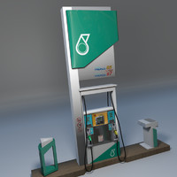 petronas fuel dispenser unit 3d blend