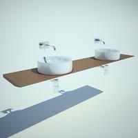 washbasin 3d max