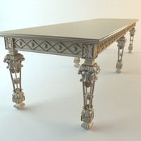 console table baroque 3d max