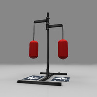 power hitting bag 3d obj