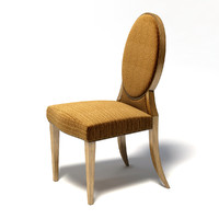 3d donghia - olivier dining chair model