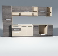 kitchen furnitures pack 1 model 01 without accessories