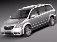 3d model lancia voyager van 2012