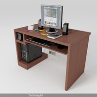 Office desk with utility