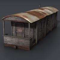 Lowpoly Train Car house