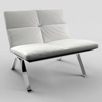 photorealistic brooklyn poltrona frau 3d model