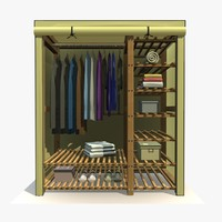 Wardrobe With Clothes 1