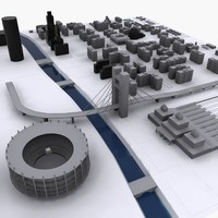 3d model of communist city 1