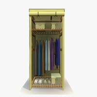 Wardrobe With Clothes 3