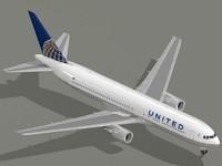 3d model b 767-300 er airliner