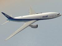 3d model b 777-200 er ana