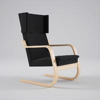 artek armchair 401 3d max