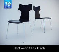 bentwood chair black 3d max