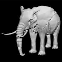 Elephant001BasRelief