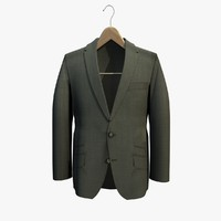 grey jacket coat hanger 3d 3ds