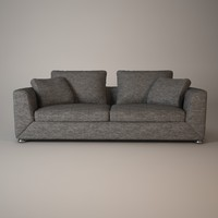 3d minotti matisse sofa model